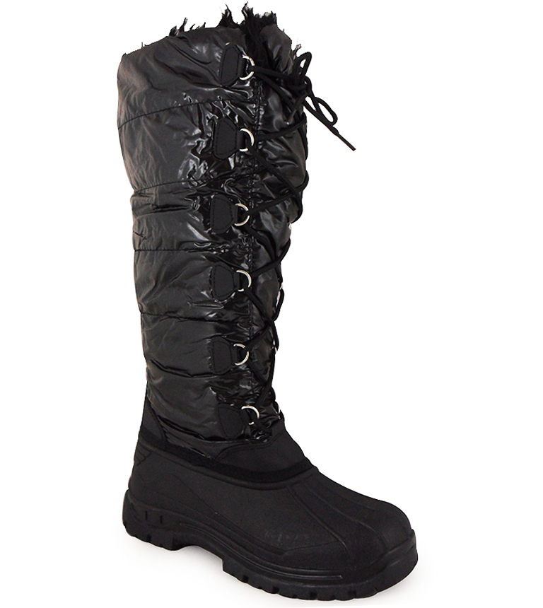 Perfect  Refresh Women39s Lace Up Waterproof Quilted Mid Calf Weather Snow Boots